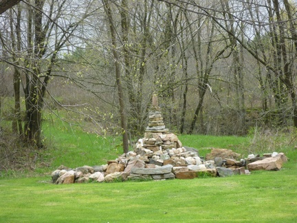 Stupa made with local stone